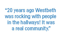"""20 years ago Westbeth was rocking with people in the hallways! It was a real community."